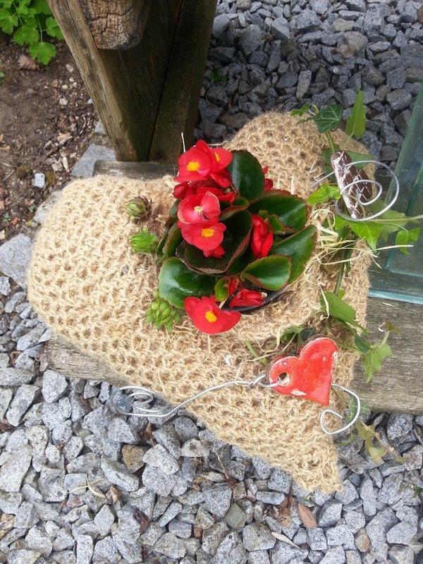 H Kelanleitung Gartendeko Herz Aus Paketschnur Und Bindeband