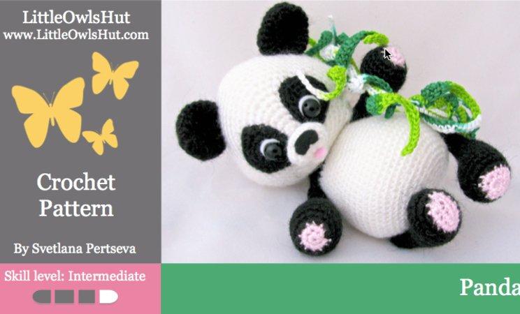 Tuto panda au crochet 1/2 - YouTube | 450x744