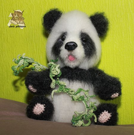 Pineapple Panda crochet pattern - Amigurumi Today | 450x449