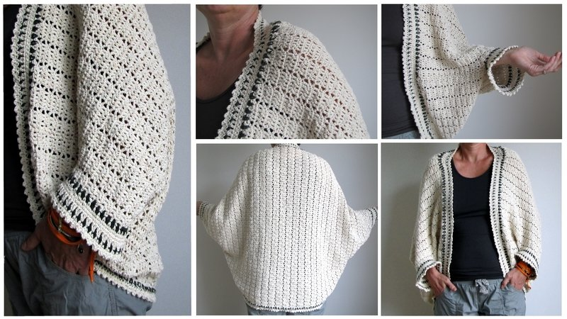 Jacket Cardigan As A Rectangle For Beginners All Sizes