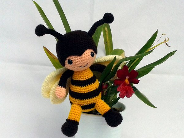 Biene Häkeln 18cm Immer Fröhlich Diy