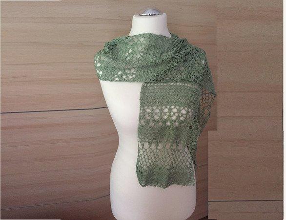 Häkelanleitung Lace - Schal