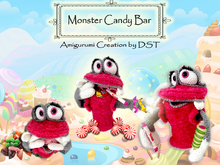 Amigurumi Monster Candy Bar
