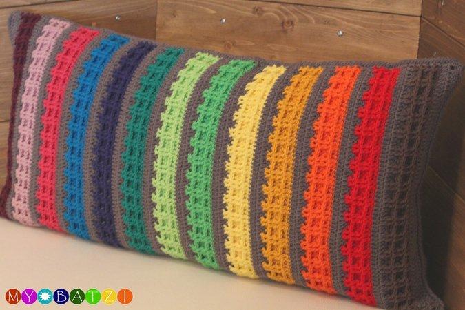 Kissen häkeln // Kissenbezug + Farbregenbogen