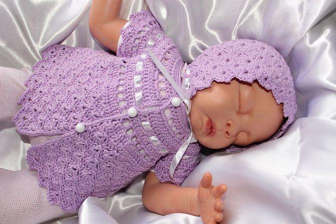 Häkelanleitung Für Muscheln Babygarnitur