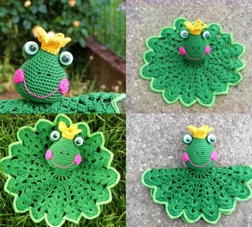 Prince Perry the Amigurumi Frog - PDF crochet pattern by Airali design | 450x500