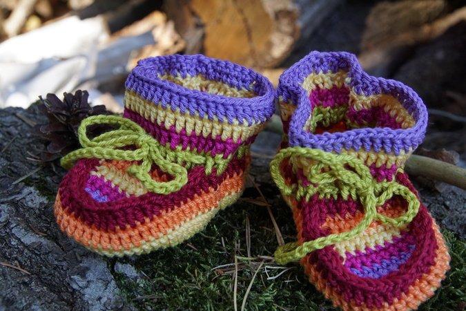 Babyschuhe häkeln - Häkelanleitung Baby Schuhe