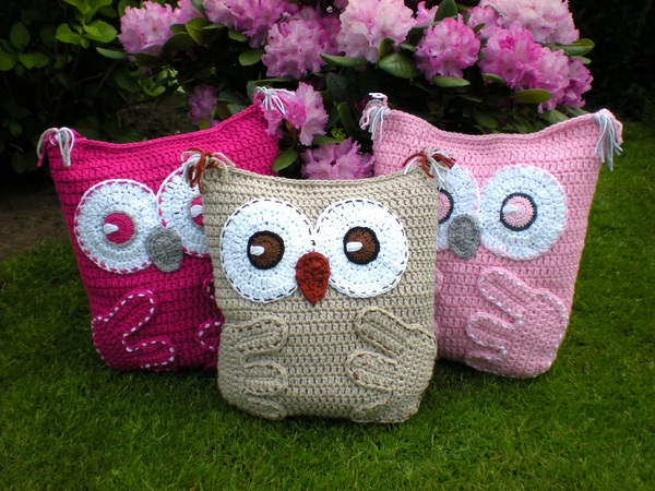 Owl Pillow Cushion Crochet Pattern