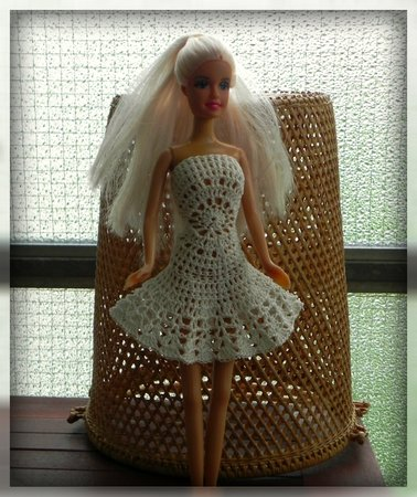 E Book Häkelanleitung Barbie Kleid Mandala In Weis