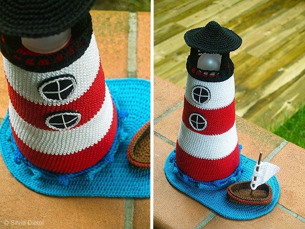 Leuchtturm Häkeln Mit Boot Dabei Deko