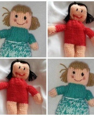 Strickanleitung für 2 Puppen- Olga und Karla auch für Anfänger