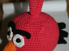 Angry bird red rot, Vogel Eule wie Angry birds in rot