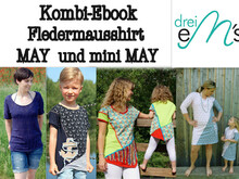 Kombi-E-Book Fledermausshirt May & mini May
