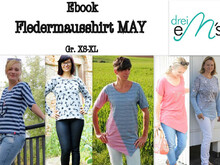 E-Book Fledermausshirt May Gr. XS-XL