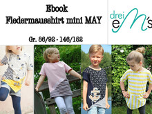 E-Book Fledermausshirt mini May Gr. 86/92- 146/152