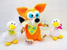 Red fox and the goslings - Crochet Pattern from Diana´s kleiner Häkelshop