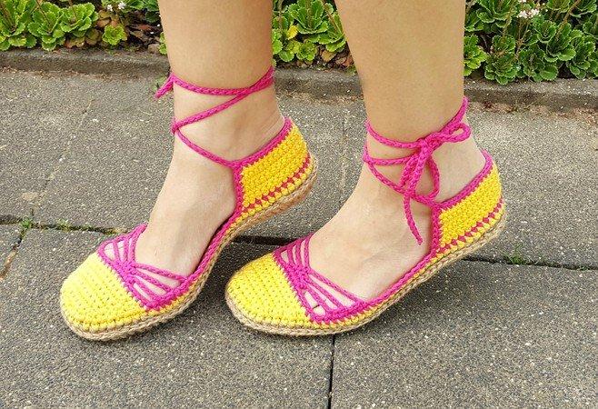Sandalen Häkeln Damen Sommerschuhe Häkeln