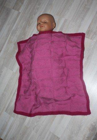 Strickanleitung Babydecke, Baby-Decke, Krabbeldecke, Spieldecke mit ...