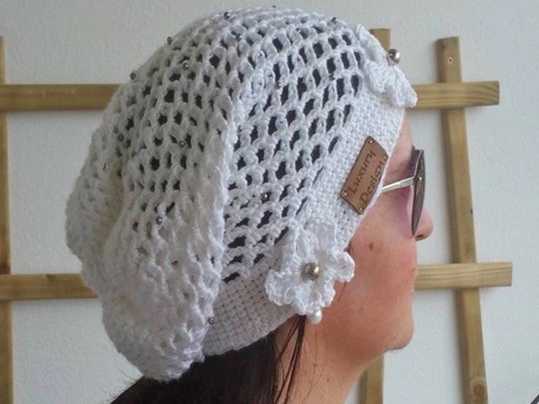 Häkelanleitung für Long Beanie unisize White Collection No.3 3fc90865ee
