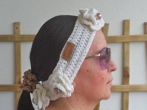 Häkelanleitung Stirnband unisize White Collection No.4