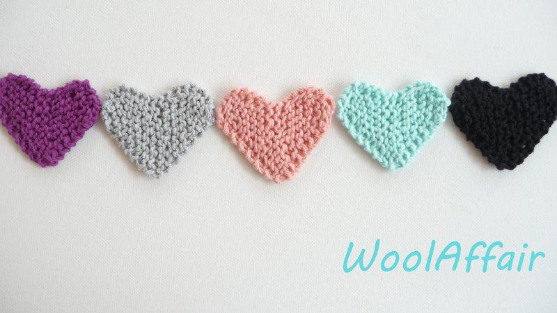 Strickanleitung für Herzen - gestricktes Herz - Herzgirlande einfach ...