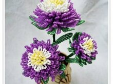 Chrysanthemum from beads