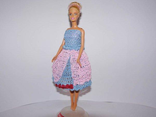 Puppenkleidung Sommerset 4-teilig zum Häkeln - Barbie