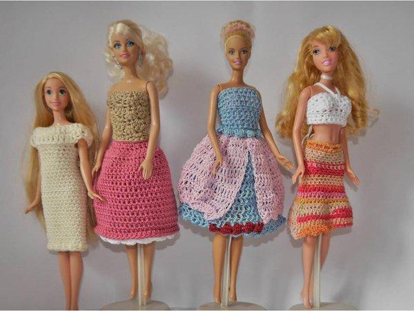 Puppenkleidung Sommerset 4 Teilig Zum Häkeln Barbie