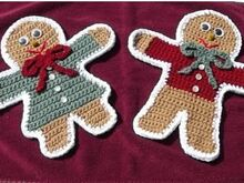 Gingerbread Cookie Potholders Pdf Pattern