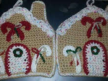 Gingerbread Houses Potholders PDF Pattern