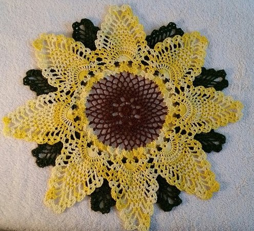 Rays Of Sunshine Doily