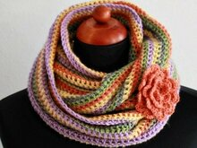 Variegated crochet scarf for girl