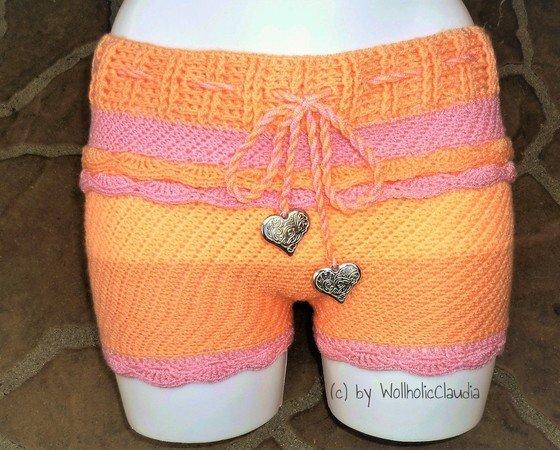 Hotpants häkeln / Sommer-Shorts / kurze Hosen