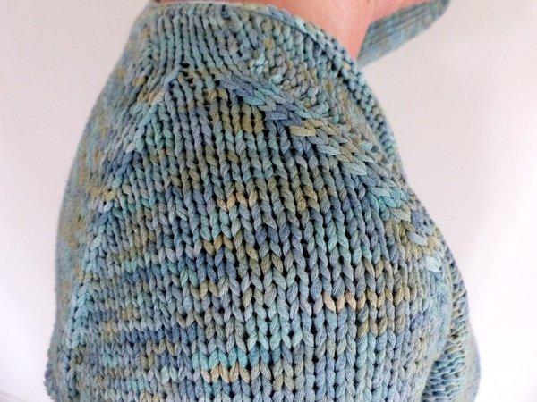 Raglan Pullover Mit V Ausschnitt Strickanleitung Größe S Xxl