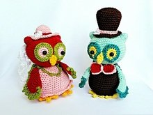 "Owl-Couple ""Bride and Groom"" - Amigurumi Crochet Pattern"