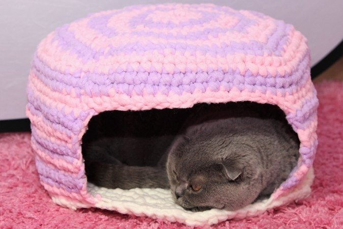 Tier Höhle Häkeln Katzenhöhle Hundehöhle