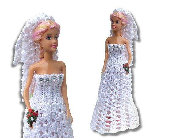 Brautkleid Für 30cm Puppen Häkelanleitung
