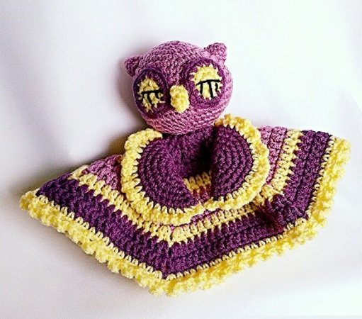 "Mini Cuddly Blanket ""Sleepy Owl"" - Crochet Pattern"