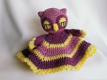 "Mini Cuddly Blanket ""Sleepy Owl"" Crochet Pattern"