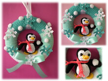 Winter - Crochet Pattern - wreath pattern - Crochet winter Wreath - crochet wreath - door wreath -