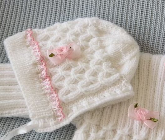 2 Pattern Deal: Baby Jacket and Bonnet Knitting Patterns