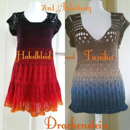 Kleid Tunika Häkeln Alle Größen Häkeln