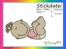 "Stickdatei ""Baby / Mädchen"" Pes Format (Deco, Brother, Babylock)"