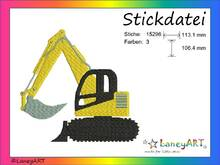 "Stickdatei ""Bagger"" Pes Format (Deco, Brother, Babylock)"