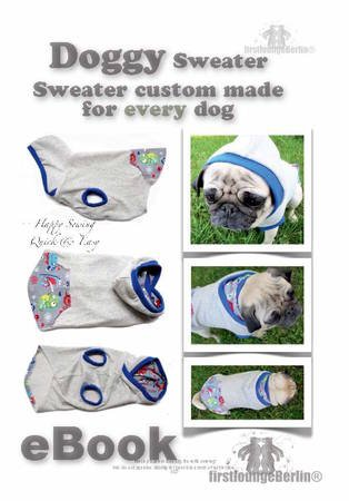 72da5389dd8 US-Doggy     E-Book PDF Dog Sweater custom made sewing instruction for  every dog-make your own patterns ...