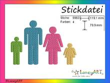 "Stickdatei ""Familie"" Pes Format (Deco, Brother, Babylock)"