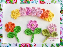 Colorful Garden Crochet Patterns Set