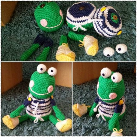 Puzzel- Magnet –Turm- Frosch Frog