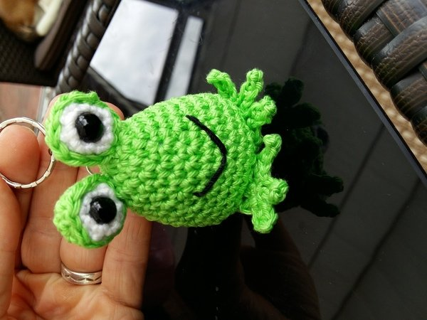 Frosch Häkeln Anhänger Süße Deko Häkeln