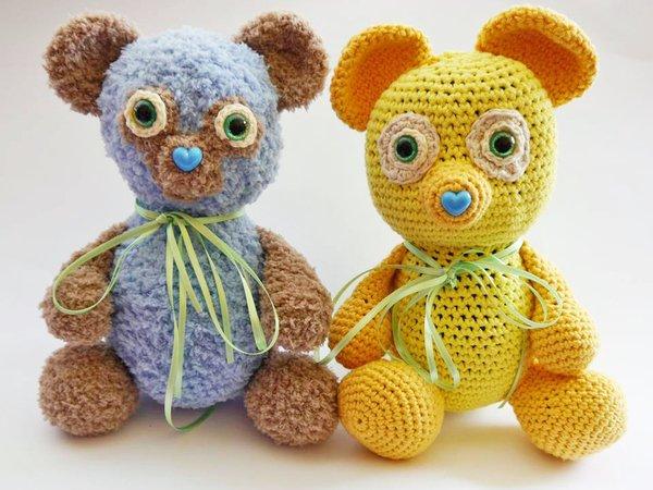 Teddy Bär Zum Häkeln Kuscheltier Für Babys Und Kinder